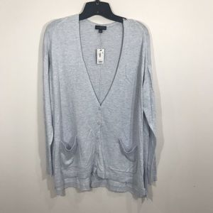 {The Limited} Oversized Periwinkle Cardigan